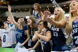STFX fans helping X get the W over Saint Mary's